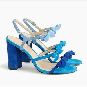 J Crew Stella Bow Heels - Blue, Size 10